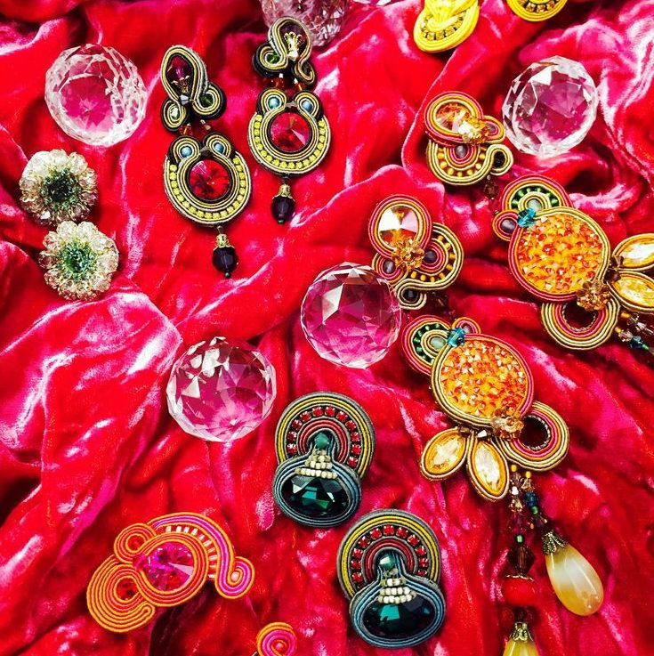 a medley of Dori's festive earrings... #DoriCsengeri #jeweltones #earrings #festive #holidays