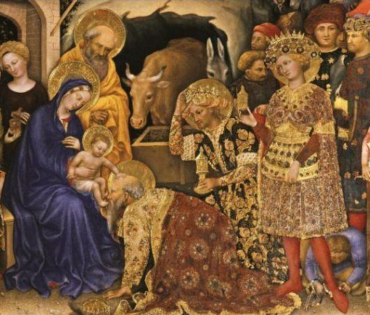Natal - adoraçao dos Reis Magos - Gentile da Fabriano