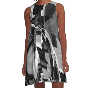 Shattered Time Zones A-Line Dress