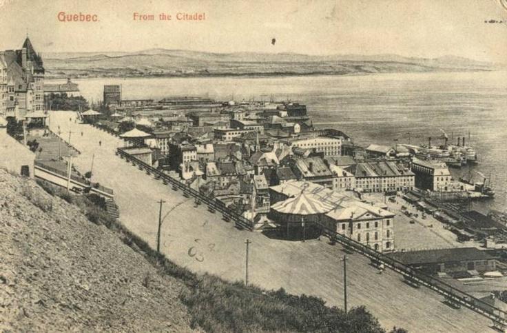 1905 view from Quebec City's Citadel. #CitadelleQuébec