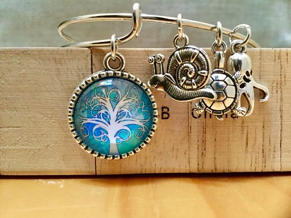 Blue tree of life bracelet