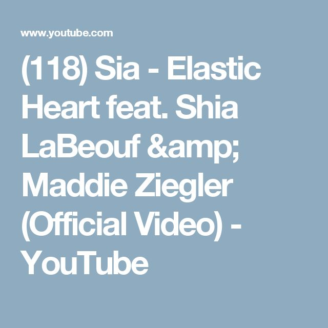(118) Sia - Elastic Heart feat. Shia LaBeouf & Maddie Ziegler (Official Video) - YouTube