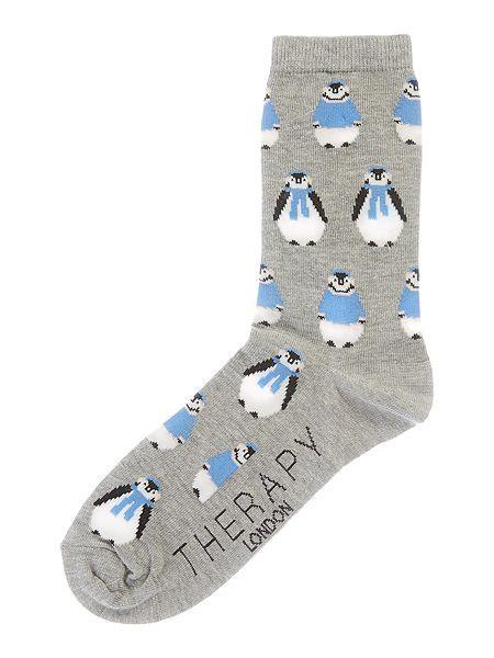 All over penguin sock