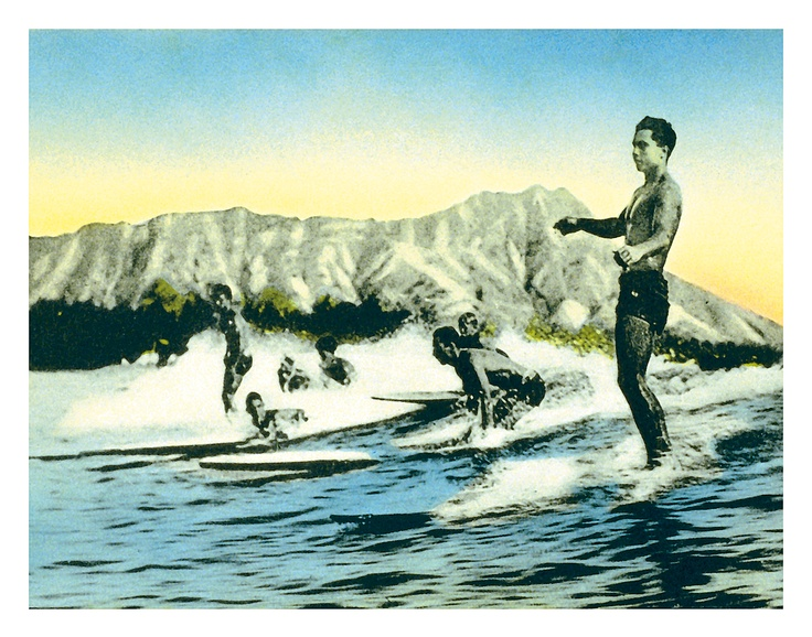 Sea Gods - Surf Riders, Waikiki $9.98. Hawaiian ArtVintage ...