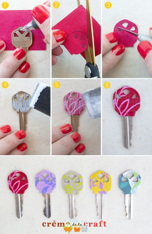 mod podge cloth key