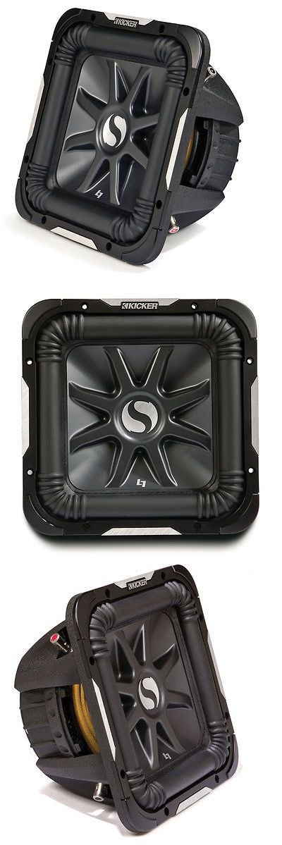 Car Subwoofers: Kicker 11S10l7d2-N Car Audio Solobaric 10-Inch L7 Dual 2 Ohm 1200W Subwoofer BUY IT NOW ONLY: $199.95