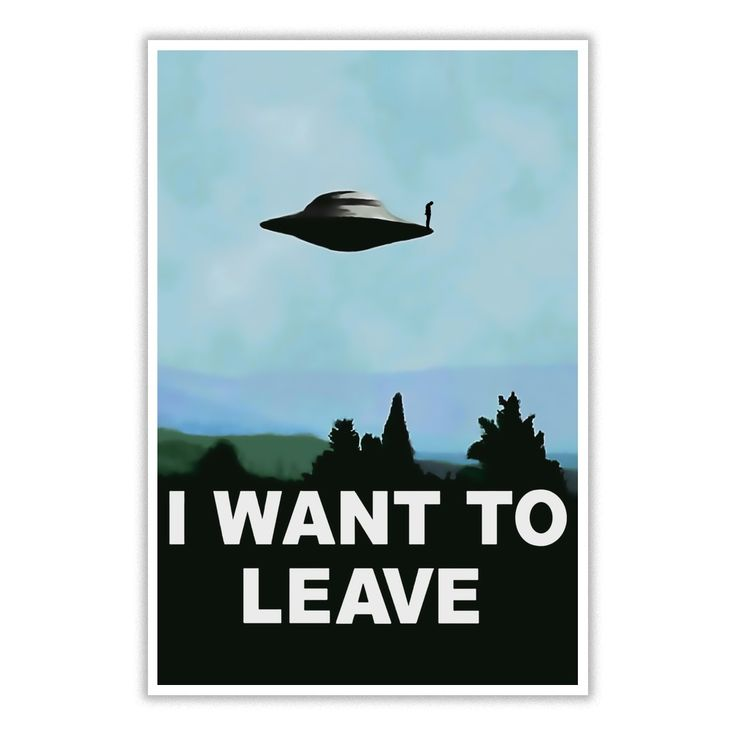 I want to beleave ufo poster classic 90s series variation aliens flying saucer object sad poster
