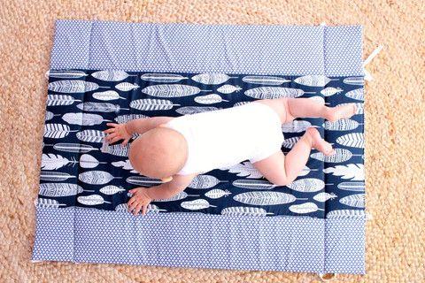 Play Mat - Blue Feather http://www.audreyandme.com.au/collections/play-mats
