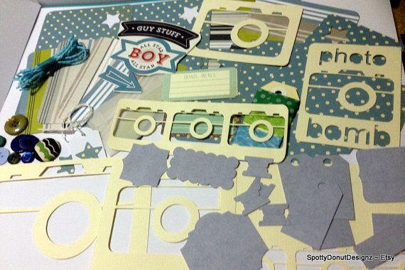 GUY_STUFF srapbooking page kits project life by SpottyDonutDesignz, $14.50