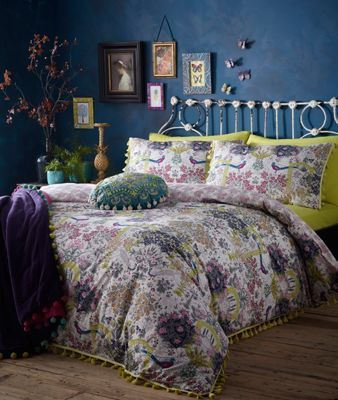 Butterfly Home by Matthew Williamson Multi-coloured floral print 'Secret Garden' 180 thread count bedding set | Debenhams