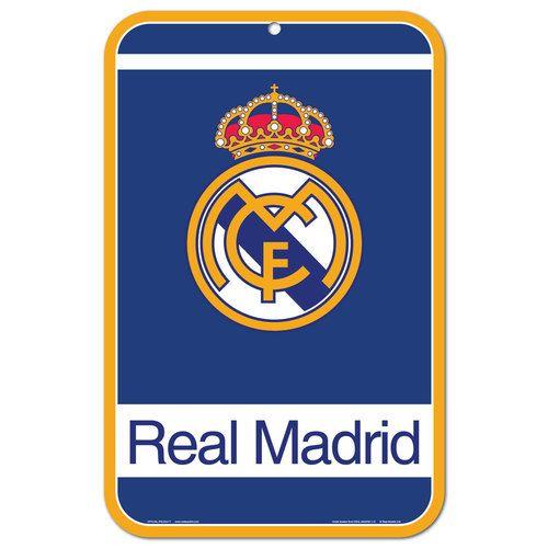 "Real Madrid Plastic Sign 11"""" x 17"""""