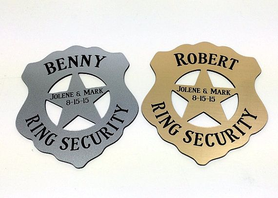 Ring Security,Ring Bearer Security Badge,Ring Bear Gift,Personalized Ring Bearer Badge