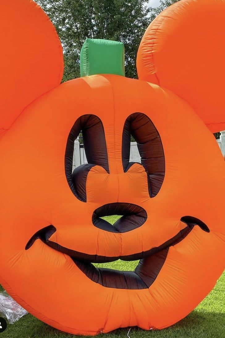 Halloween 2020 Inflating Pumpkin Lowe's Is Selling a Giant Mickey Mouse Pumpkin Inflatable, and We