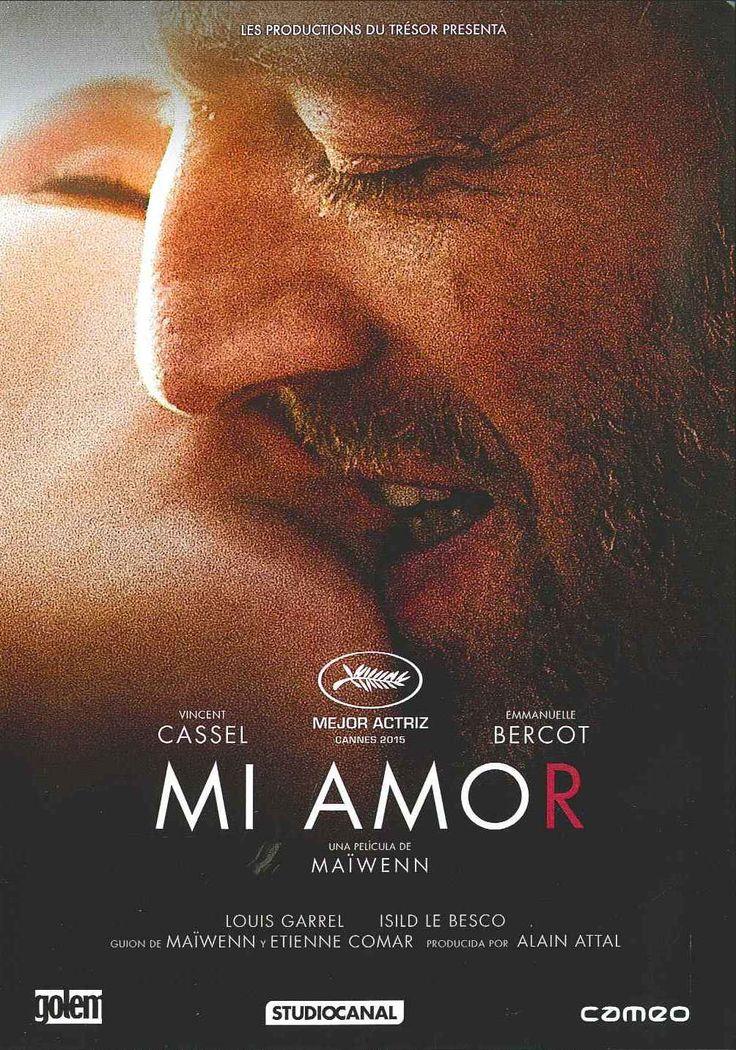 """""""Mi amor"""" (2015) Francia, dirigida por Maïwenn Le Besco. Tony está ingresada en un centro de rehabilitación después de una grave caída esquiando. Dependiente del personal médico y los analgésicos, se toma el tiempo necesario para recordar su tumultuosa historia sentimental con Georgio."""