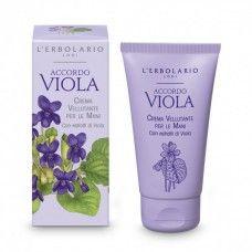 Accordo Viola kézkrém ibolya illatú - Rendeld meg online! Parfüm és kozmetikum család az olasz Lerbolario naturkozmetikumoktól