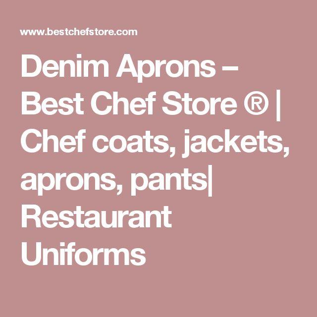Denim Aprons – Best Chef Store ®  | Chef coats, jackets, aprons, pants| Restaurant Uniforms