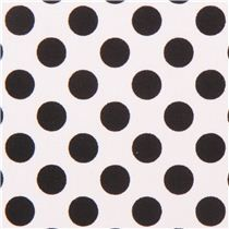 tessuto Michael Miller bianco Ta Dot a pois neri 6,45