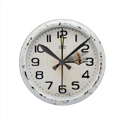 Attractive Vintage White Wall Clock - antique gifts stylish cool diy custom