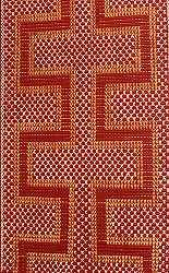 Tukutuku - Weaving Patterns in a Whare represents the separation of Ranginui and Papatuanuku