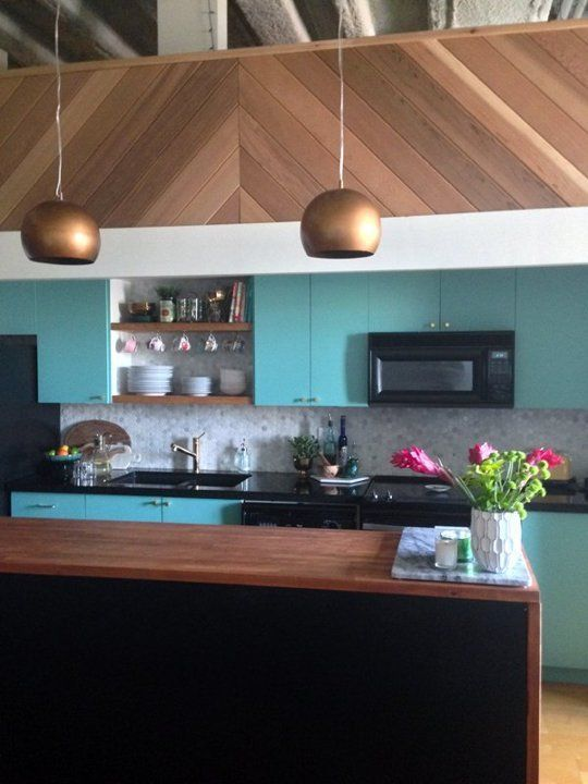 Before after a modern vintage loft kitchen makeover
