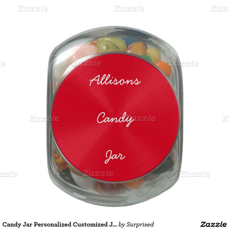 Candy Jar Personalized Customized Jelly Beans