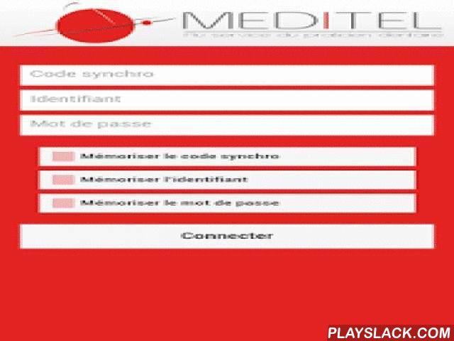Meditel Dentaire  Android App - playslack.com ,  Votre agenda professionnel MEDITEL DENTAIRE, télé-secrétariat spécialiste des cabinets dentaires, accessible depuis votre terminal Android (3.2 et supérieure).Vous pouvez gérer vos rendez-vous, vos contacts et paramétrer l'agenda pour coller au mieux à la situation de votre cabinet dentaire, même si vous prenez des rendez-vous toutes les 5 minutes.Synchronisez-le à votre compte MEDITEL pour une utilisation mobile collaborative avec vos…