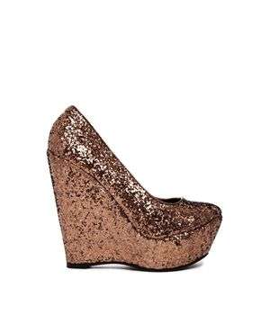 Sugarfree Tandy Glitter Wedge Shoes