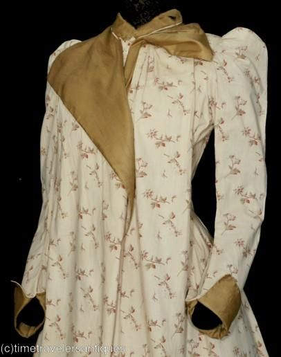 Very Late Victorian wrapper - view from left side