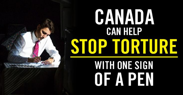 We face a unique moment! If our collective voices can convince Canada's new government to sign on to this global treaty, we can stop torture from going undetected around the world. And by doing so, Canada will regain its influence and credibility when it speaks out to prevent torture from happening.  >>  Ask our new government to make #StopTorture a priority now: