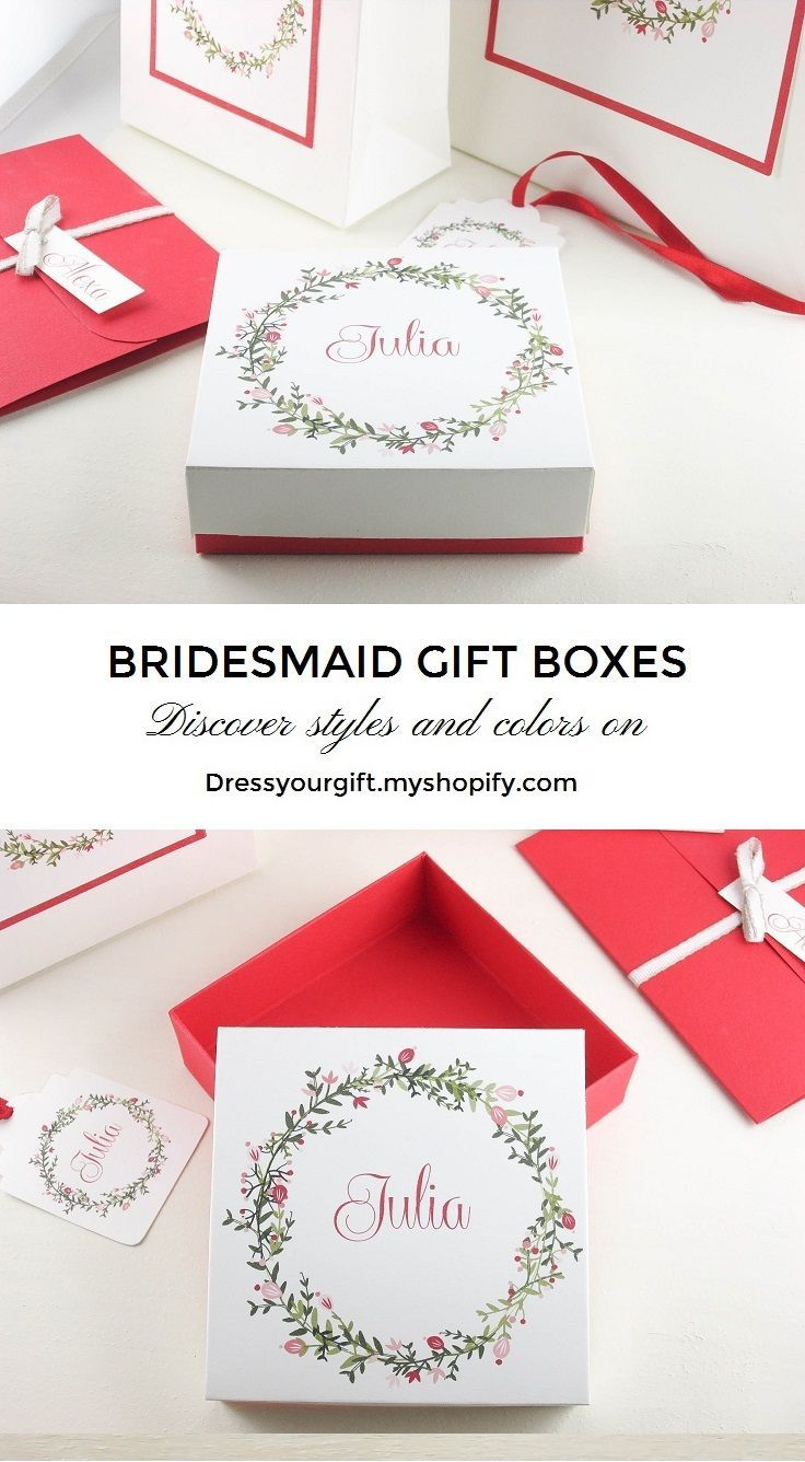 Bridesmaids gift boxes
