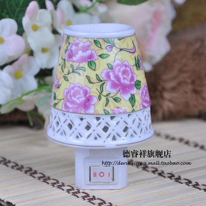 Contemporary Switched Wall Lights : Jingdezhen ceramic night light aromatic ceramic night light Wall lamp double line switch lamp ...