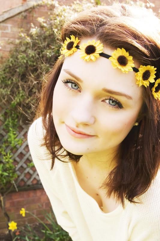 sun flower head band