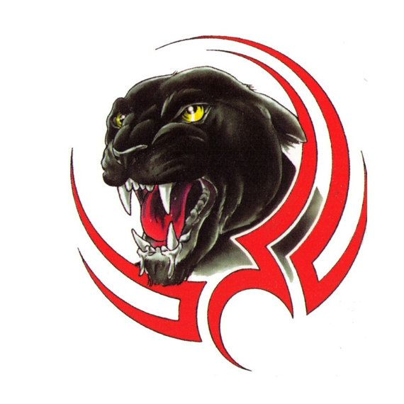 Tribal Panther Temporary Tattoo - 2x3 inch