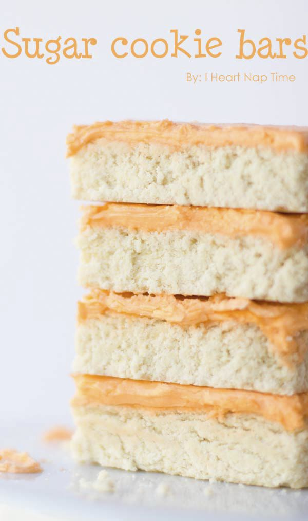 Sugar cookie bars from iheartnaptime.net -super easy and delicious!! #recipes #desserts