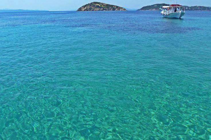 #clearwater #crystalclear #blue #boat #summer #sea #beach #island #greece #travel