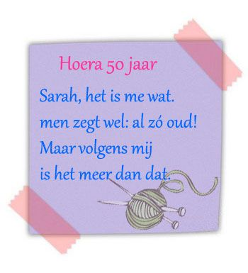 50 Jaar Sarah Tekst