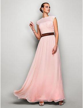 Vestido largo de ceremonia rosa palo @ Vestidos de Fiesta Baratos
