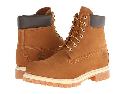 "Timberland Classic 6"" Premium Boot Wheat Nubuck Leather - Zappos.com Free Shipping BOTH Ways"