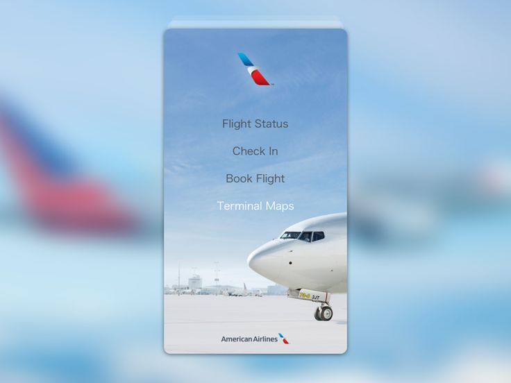 American Airlines Rebound flight app  by Zachary Anton Reeves