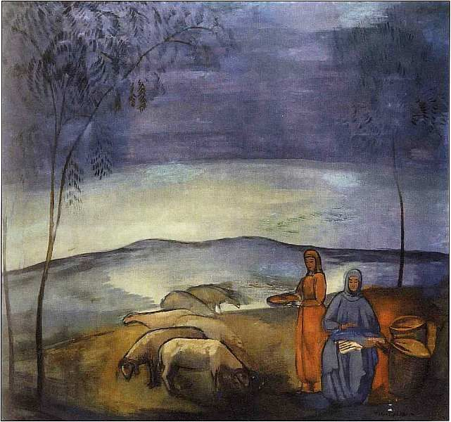 Павел Варфоломеевич Кузнецов (1878–1968). Вечер в степи 1912