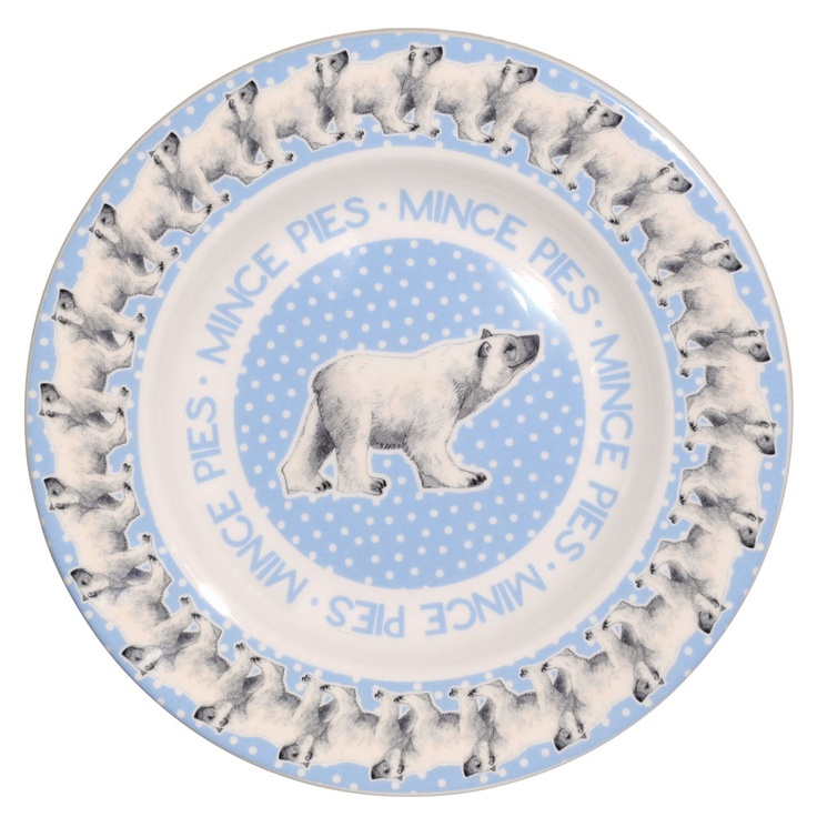 "Polar Bear in Snowstorm 8 1/2"" Plate"