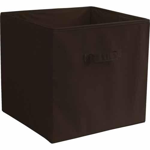 Room Essentials Fabric Box 35cm, 36cm, 33.5cm. Chocolate. - Mitre 10