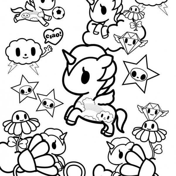 Tokidoki Coloring Pages Coloring Home In 2020 Unicorn Coloring Pages Cute Coloring Pages Coloring Pages