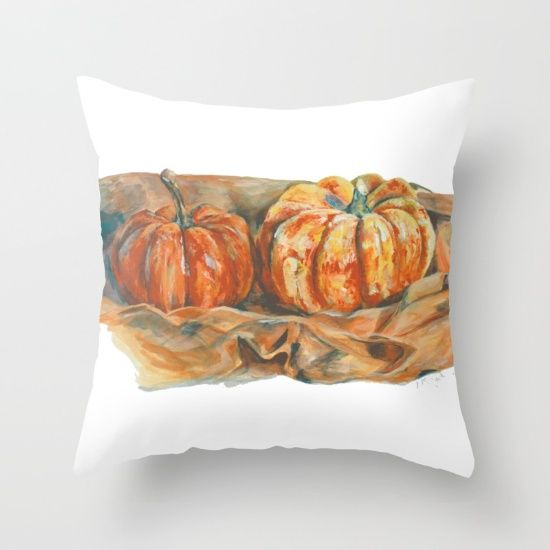 Perfect fall decor addition. Throw Pillow made from 100% spun polyester poplin fabric, a stylish statement that will liven up any room. Individually cut and sewn by hand, each pillow features a double-sided print and is finished with a concealed zipper for ease of care.  Sold with or without faux down pillow insert.
