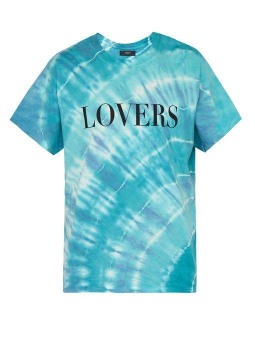 aac4ad265c26f AMIRI Lovers-print tie-dye T-shirt. #amiri #cloth | Amiri in 2019 ...