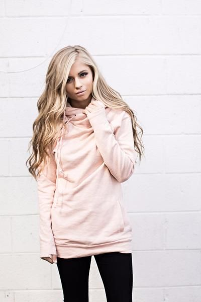 *Exclusive Double Hooded Sweatshirt - Blush [sign-up]