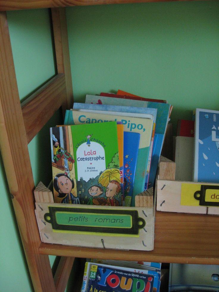 cagette rangement biblioth que organisation de la classe pinterest. Black Bedroom Furniture Sets. Home Design Ideas