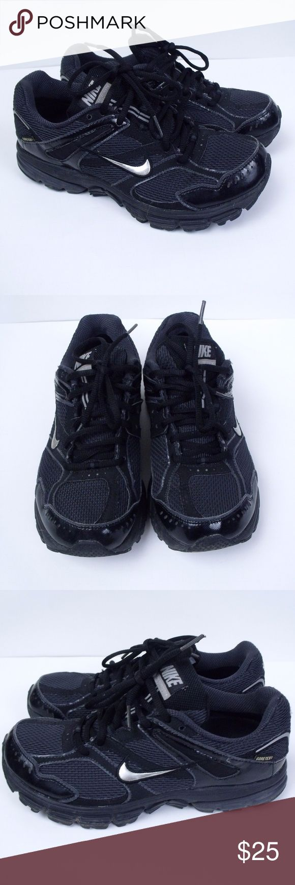 Nike Fitsole Zoom Gore-Tex Sneakers Size: 6.5  ~ Black Nike Fitsole, Gore-Tex, Zoom running shoes. ~ SKU# 407654-001 ~ Shoes are in gently used condition, no rips or tears. Nike Shoes Athletic Shoes