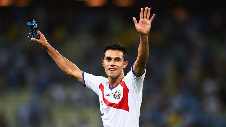 Giancarlo Gonzalez of Costa Rica celebrates