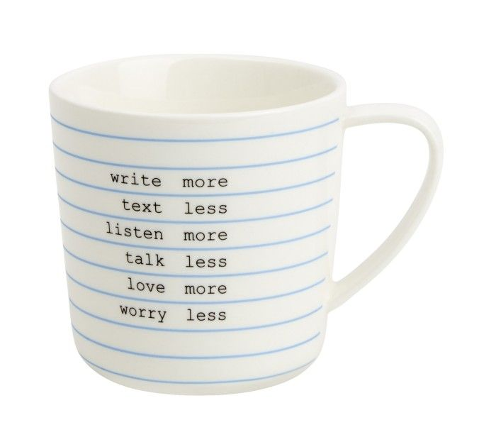 CUP WHITE: LETTERS